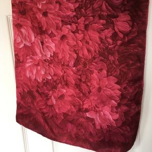 Bright pink rose scarf